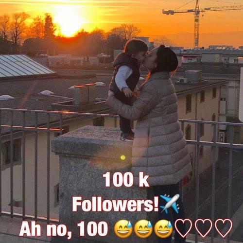 100 K followers? Ah no, 100! 😅